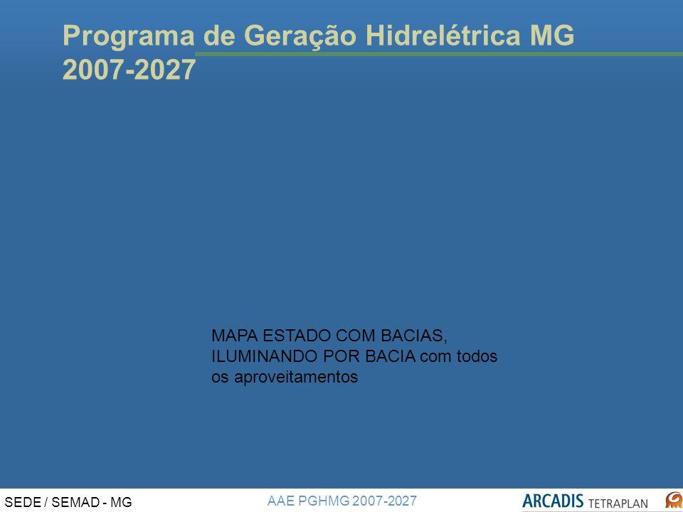 Programa de Geração Hidrelétrica MG 2007-2027