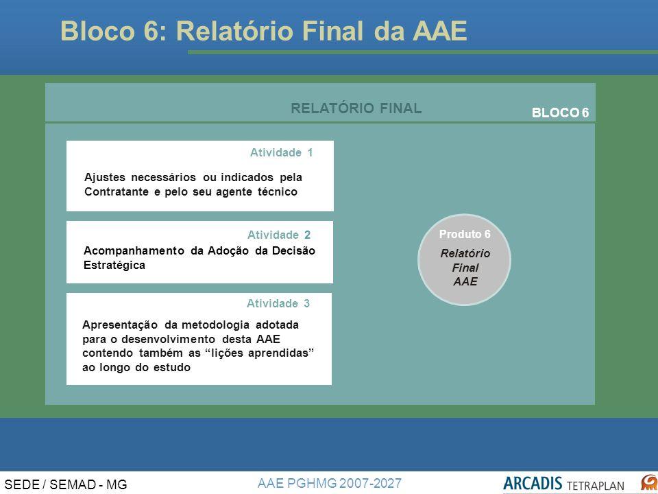 Bloco 6: Relatório Final da AAE