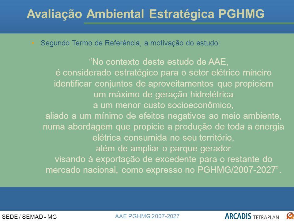 Avaliação Ambiental Estratégica PGHMG