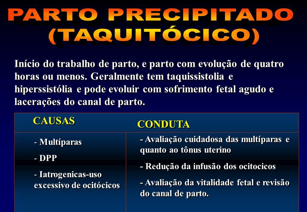 PARTO PRECIPITADO (TAQUITÓCICO)