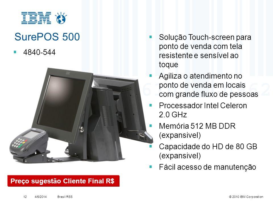SurePOS 500Solução Touch-screen para ponto de venda com tela resistente e sensível ao toque.