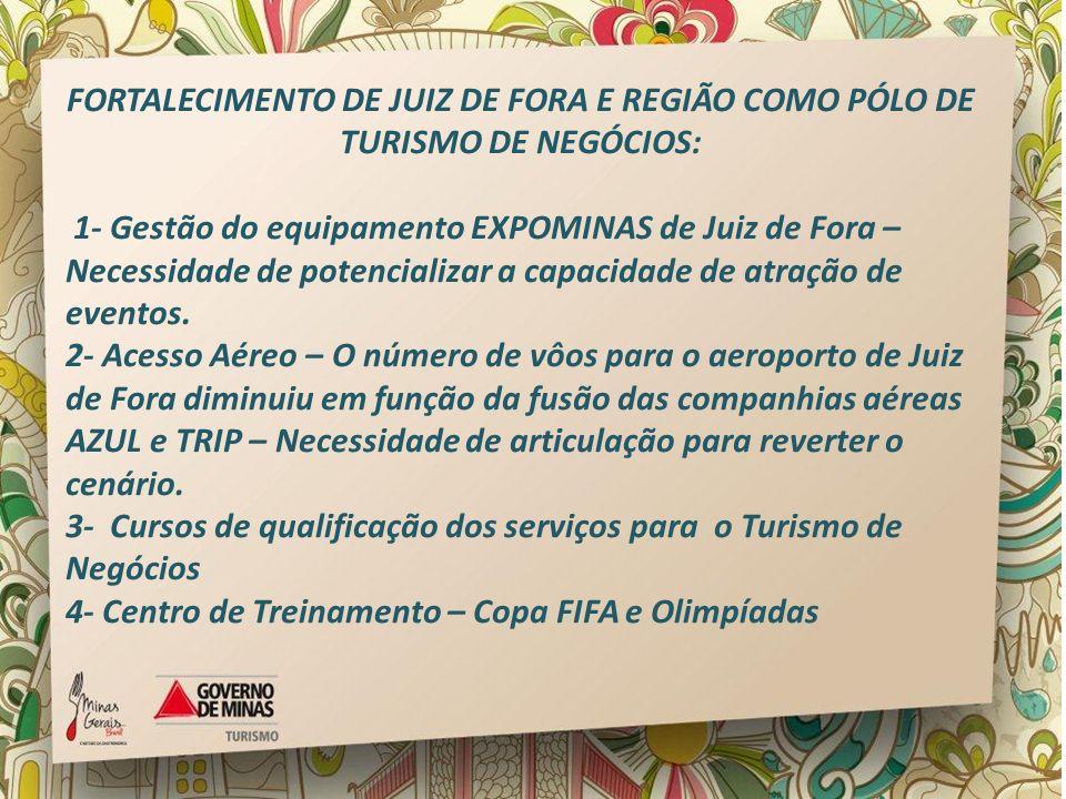 FORTALECIMENTO DE JUIZ DE FORA E REGIÃO COMO PÓLO DE TURISMO DE NEGÓCIOS: