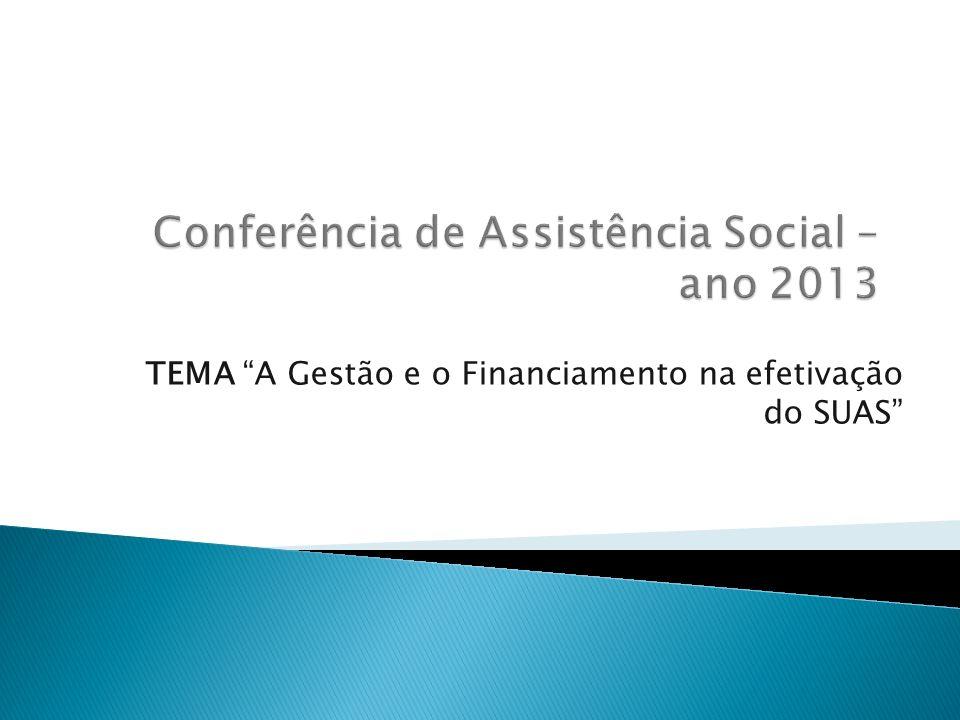 Conferência de Assistência Social – ano 2013