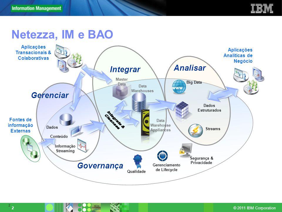Netezza, IM e BAO Analisar Integrar Gerenciar Governança Integrate &