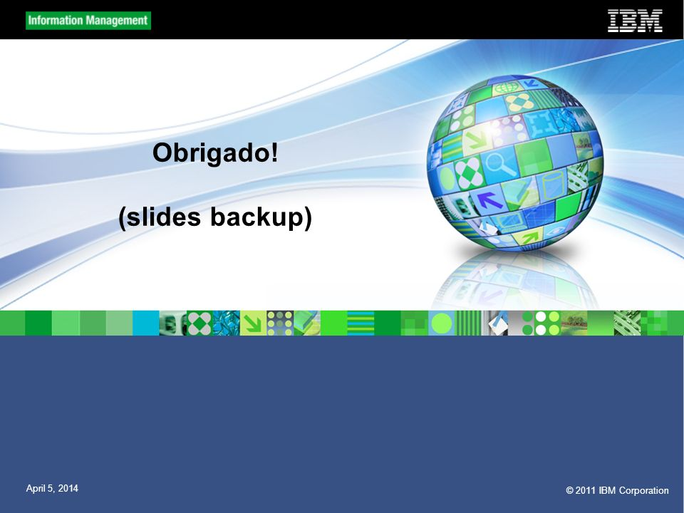 Obrigado! (slides backup)
