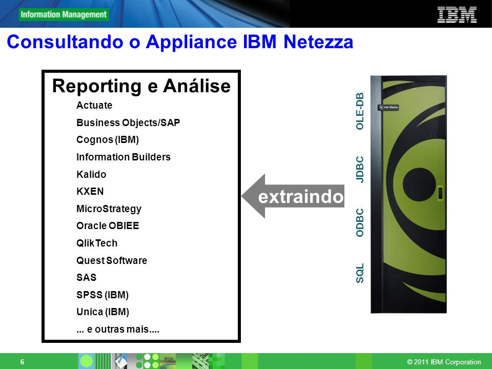 Consultando o Appliance IBM Netezza