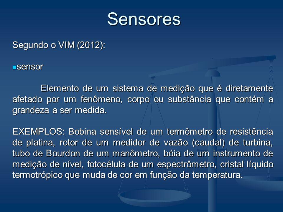 Sensores Segundo o VIM (2012): sensor