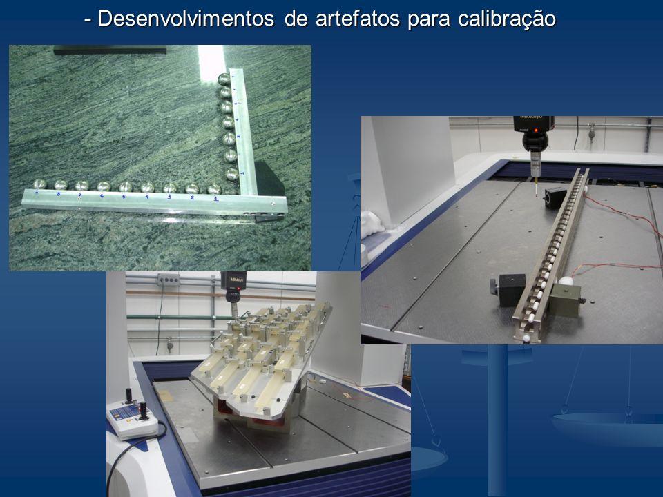 - Desenvolvimentos de artefatos para calibração