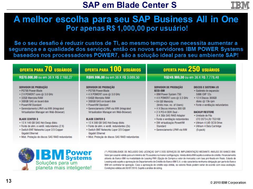 SAP em Blade Center S
