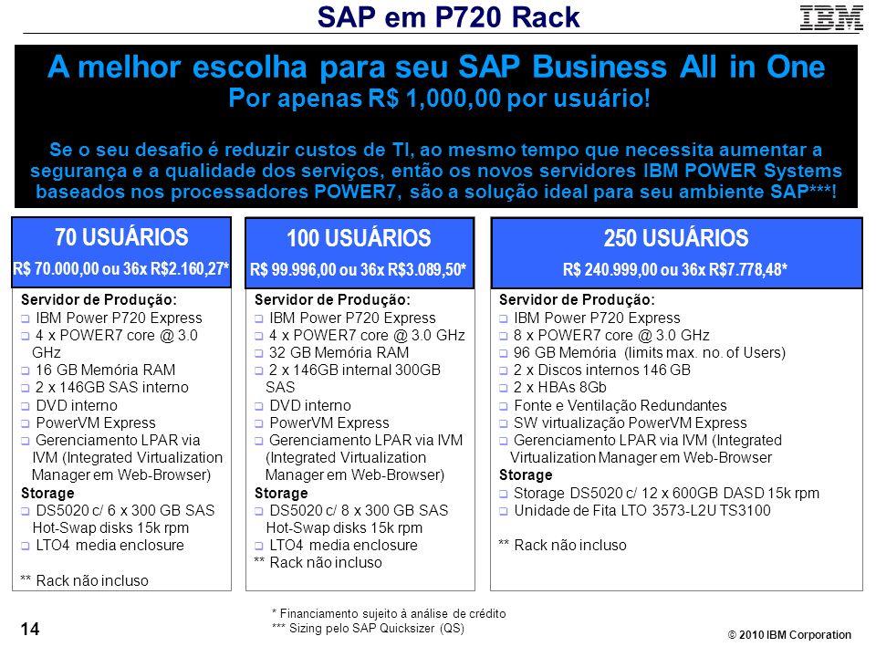 SAP em P720 Rack