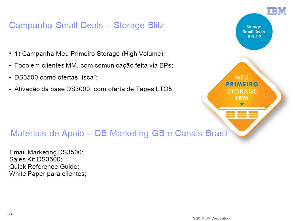 Campanha Small Deals – Storage Blitz