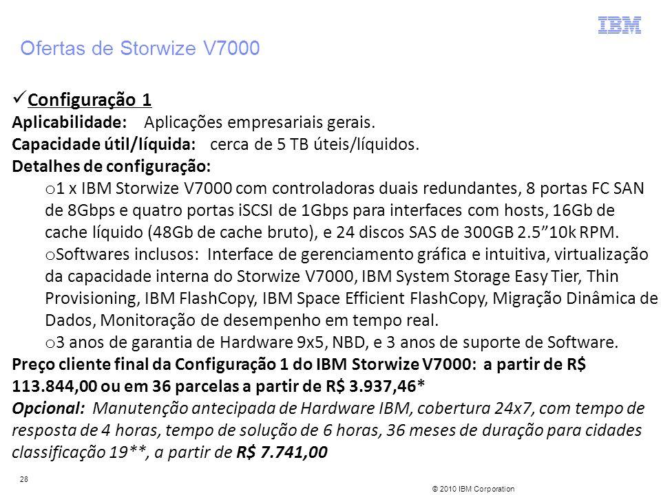 Ofertas de Storwize V7000 Configuração 1