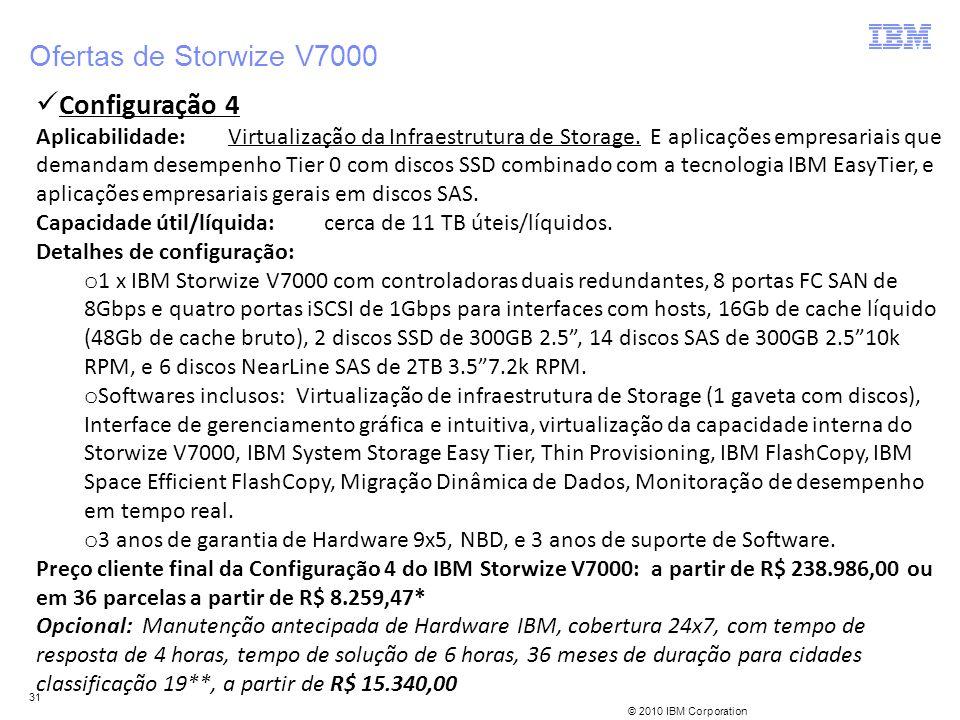 Ofertas de Storwize V7000 Configuração 4