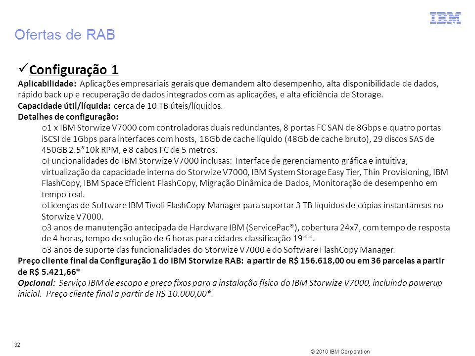 Ofertas de RAB Configuração 1