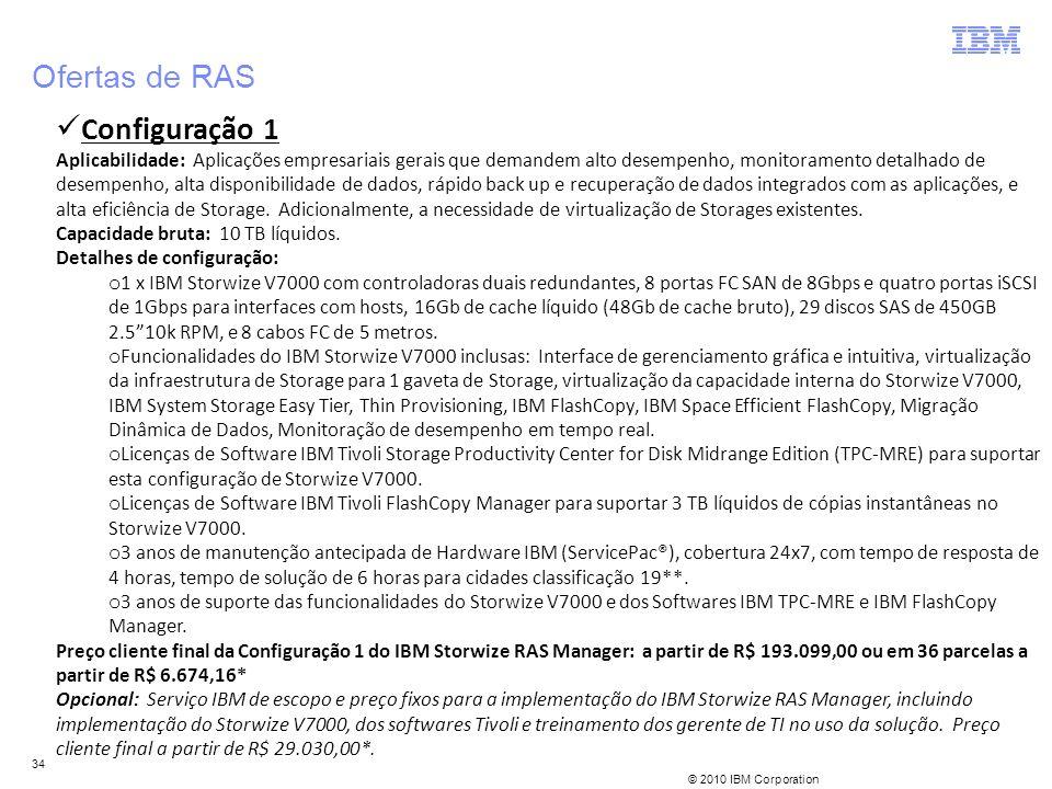 Ofertas de RAS Configuração 1