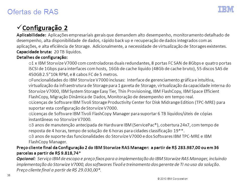 Ofertas de RAS Configuração 2