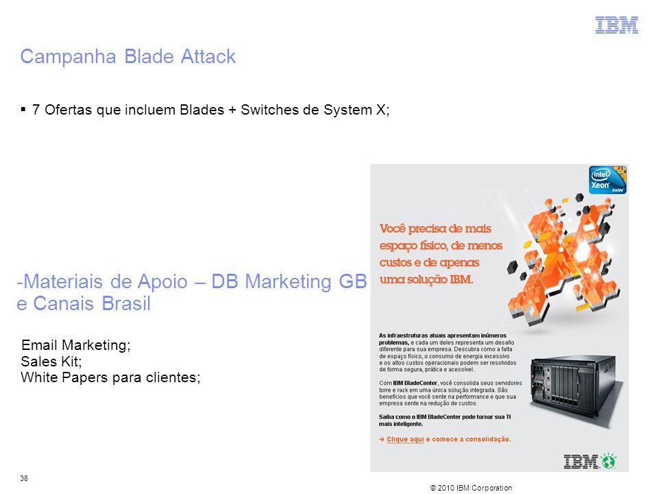 Campanha Blade Attack 7 Ofertas que incluem Blades + Switches de System X;