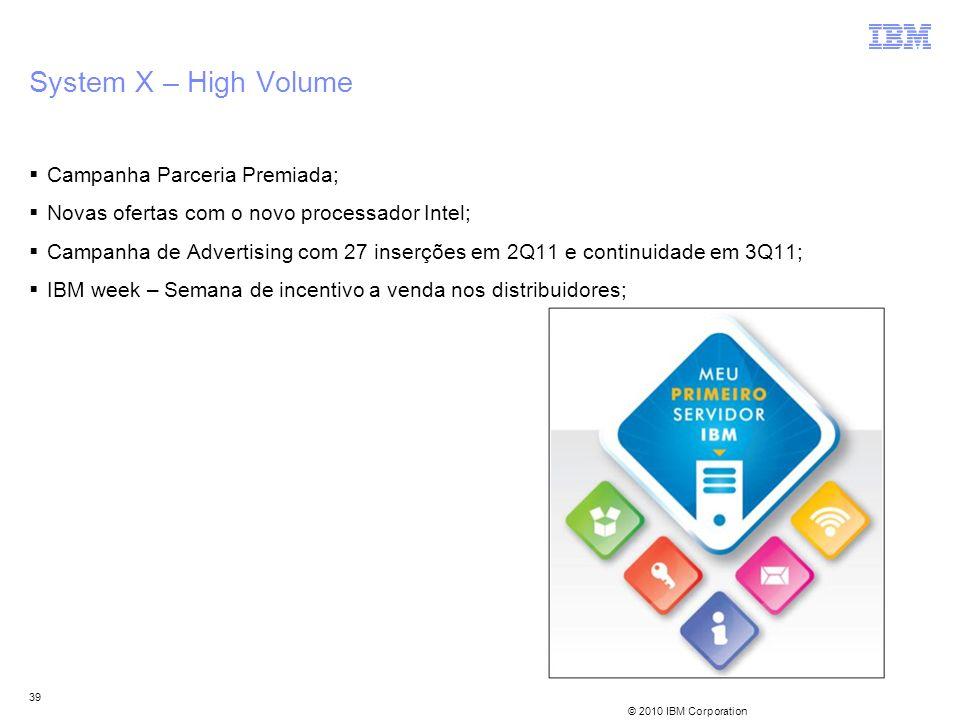 System X – High Volume Campanha Parceria Premiada;