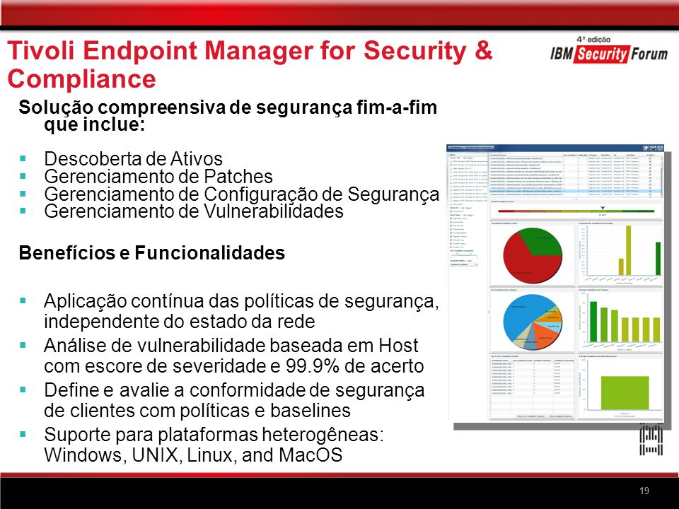 Tivoli Endpoint Manager for Security & Compliance Drill Down para entender as não conformidades