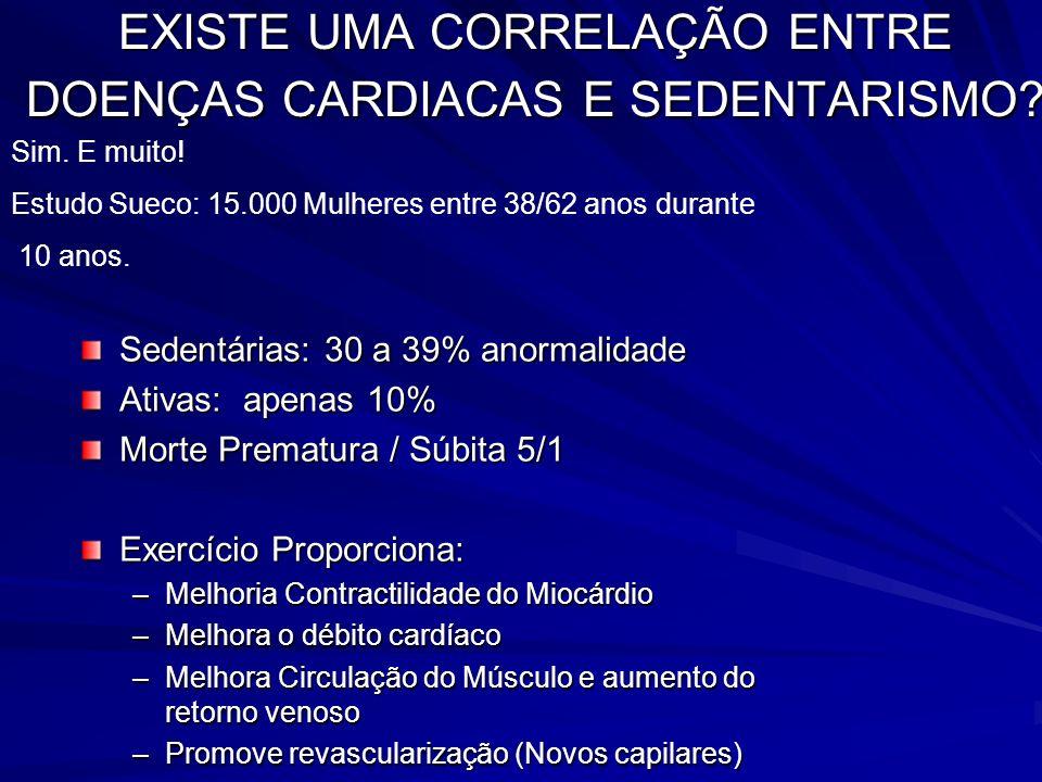 EXISTE UMA CORRELAÇÃO ENTRE DOENÇAS CARDIACAS E SEDENTARISMO