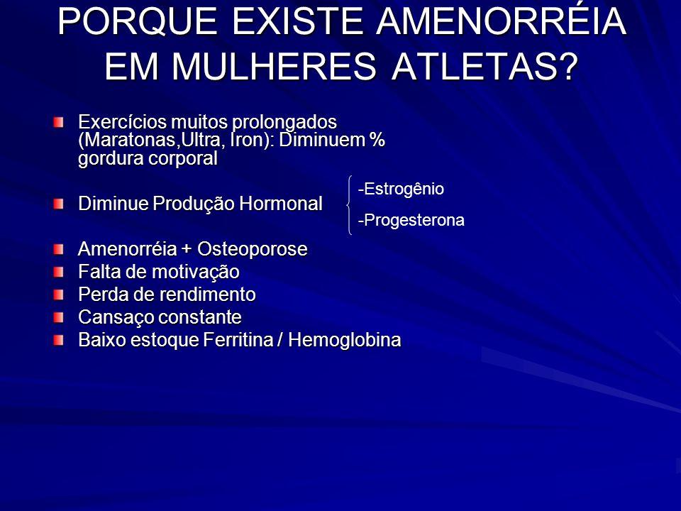 PORQUE EXISTE AMENORRÉIA EM MULHERES ATLETAS