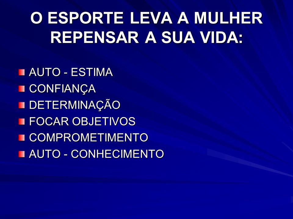 O ESPORTE LEVA A MULHER REPENSAR A SUA VIDA: