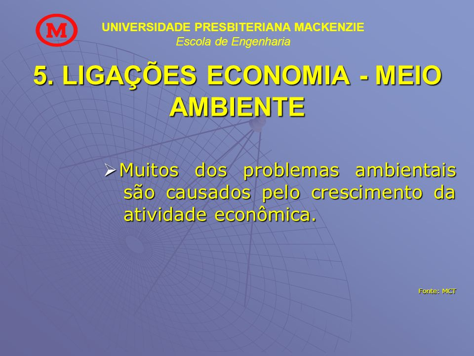 5. LIGAÇÕES ECONOMIA - MEIO AMBIENTE