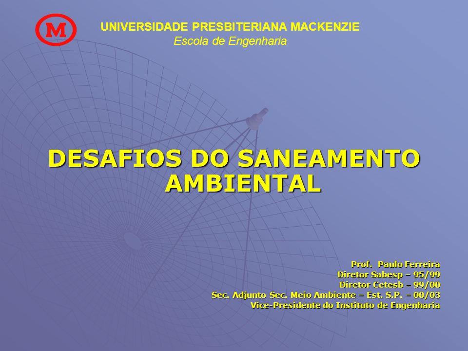DESAFIOS DO SANEAMENTO AMBIENTAL