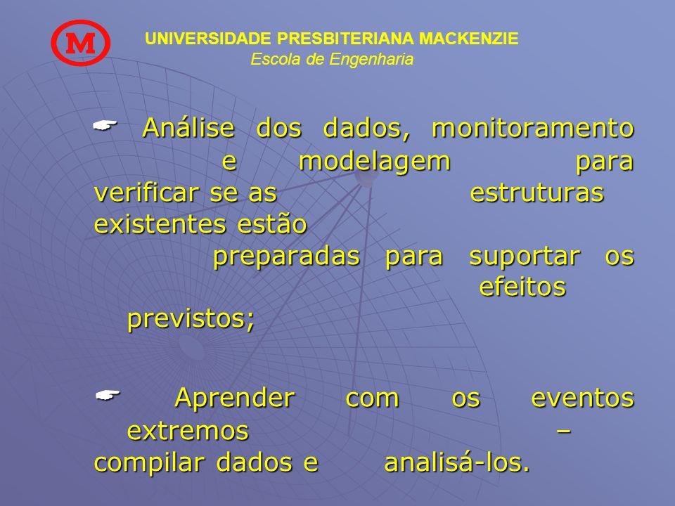  Análise dos dados, monitoramento. e. modelagem para verificar se as