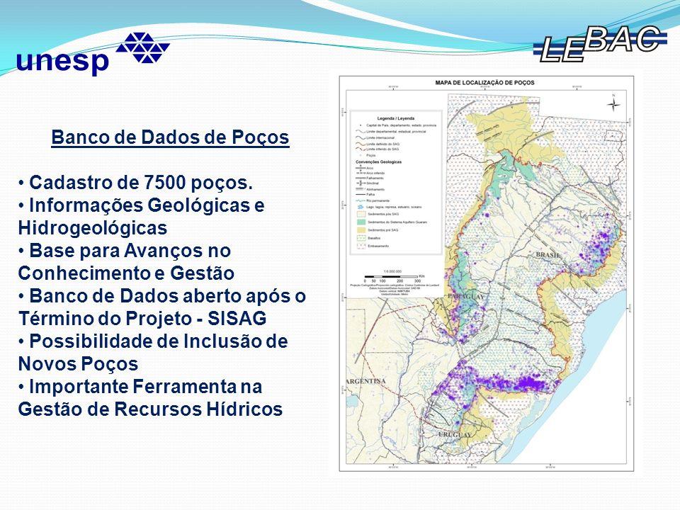 Banco de Dados de PoçosCadastro de 7500 poços. Informações Geológicas e Hidrogeológicas. Base para Avanços no Conhecimento e Gestão.