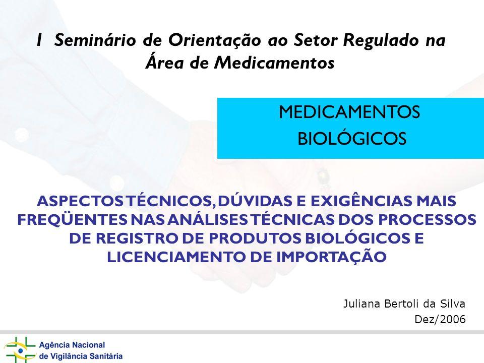 1 Seminário de Orientação ao Setor Regulado na Área de Medicamentos