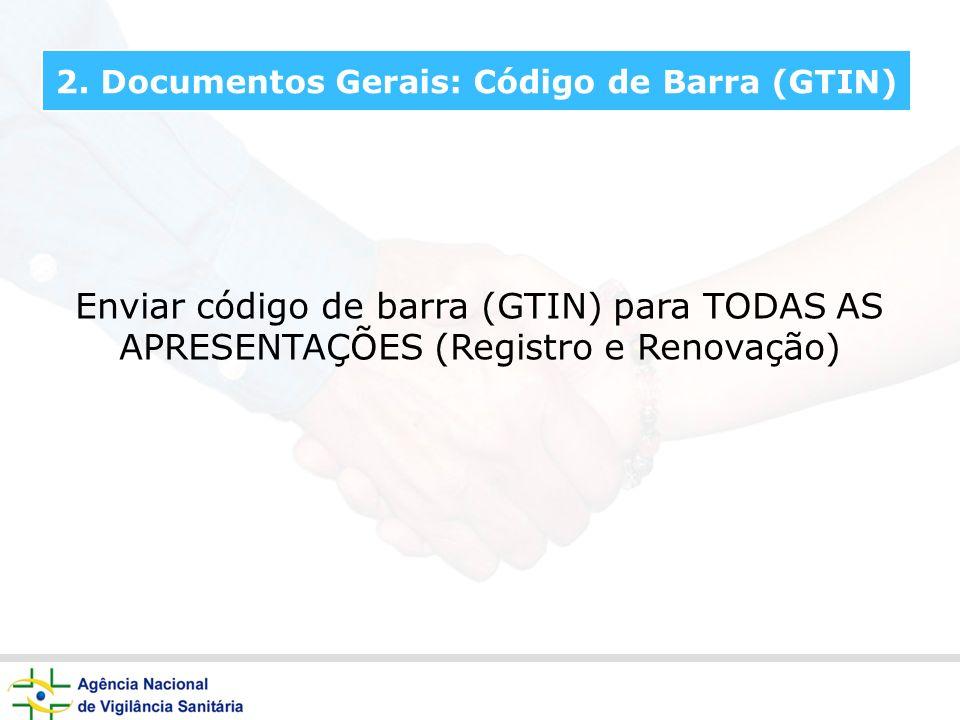 2. Documentos Gerais: Código de Barra (GTIN)