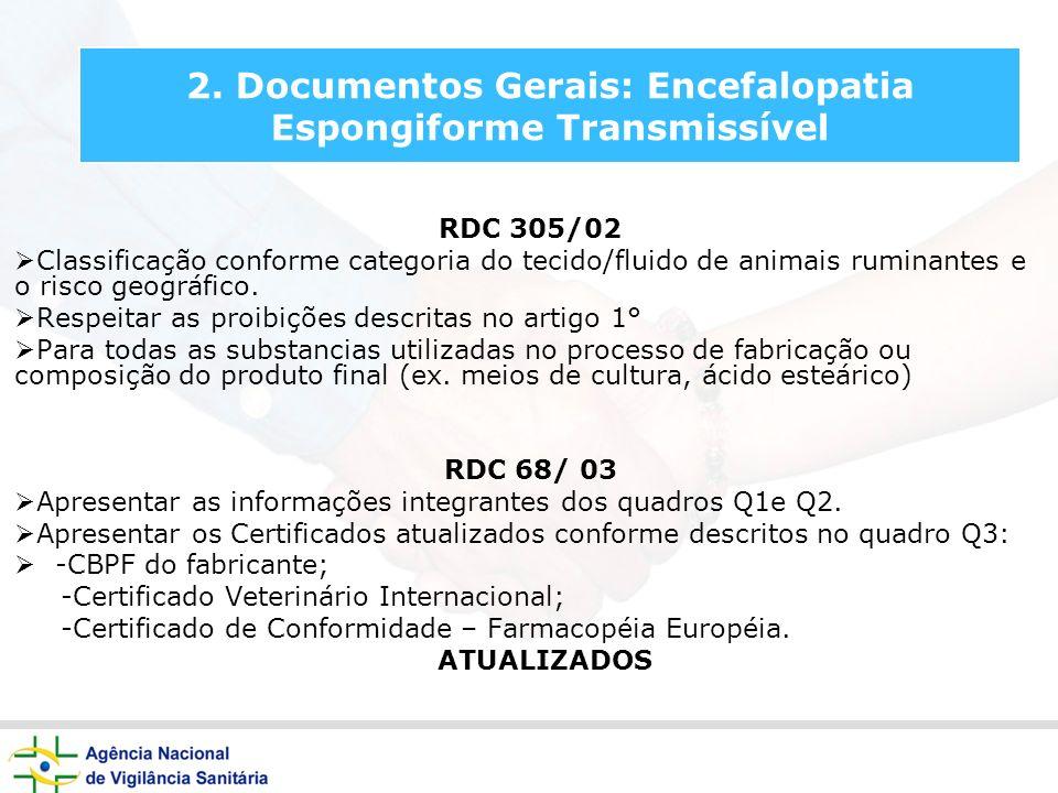 2. Documentos Gerais: Encefalopatia Espongiforme Transmissível