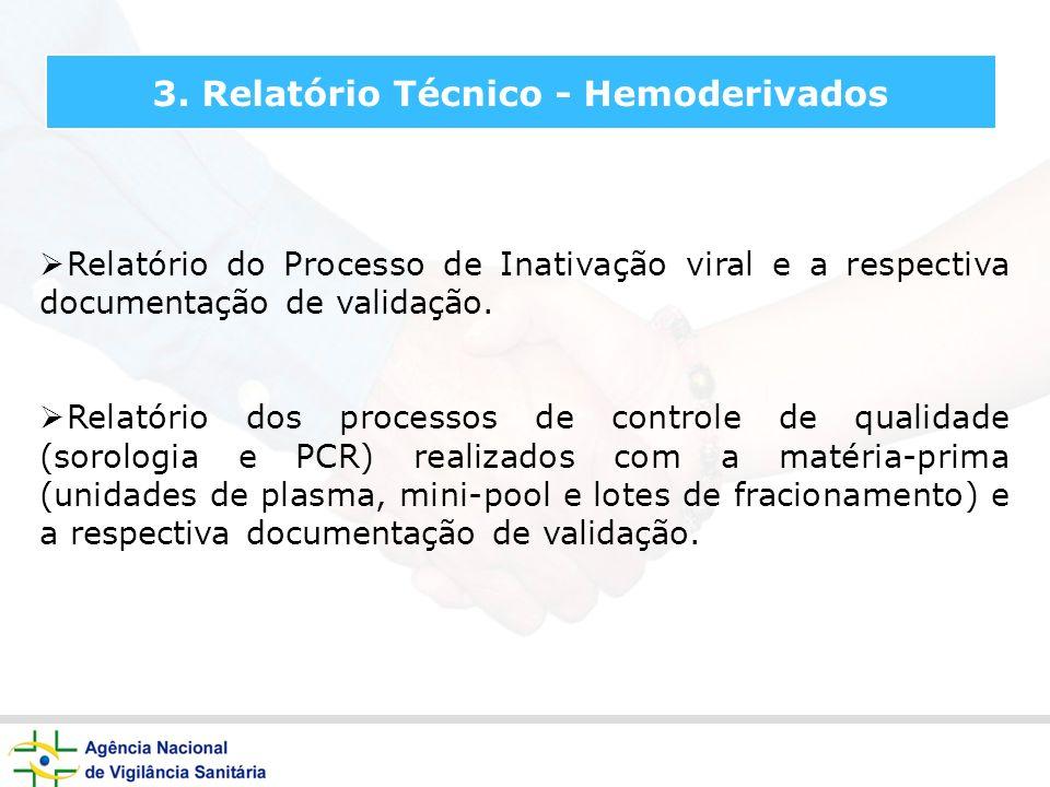3. Relatório Técnico - Hemoderivados