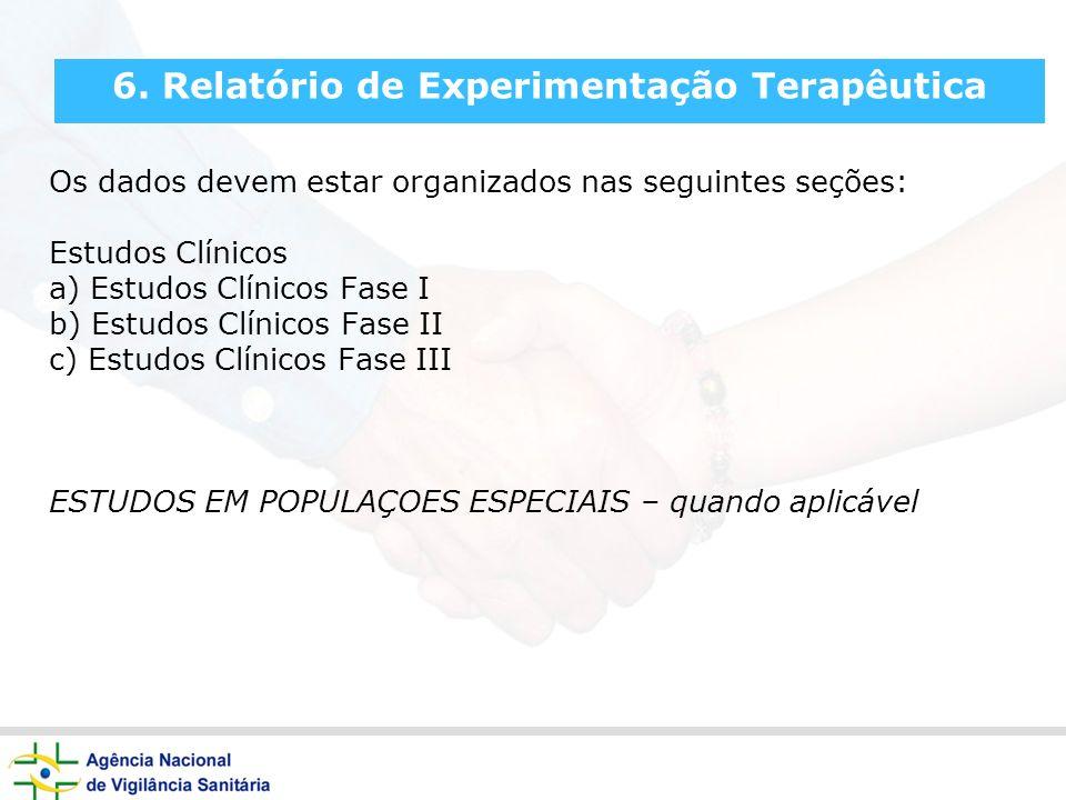 6. Relatório de Experimentação Terapêutica