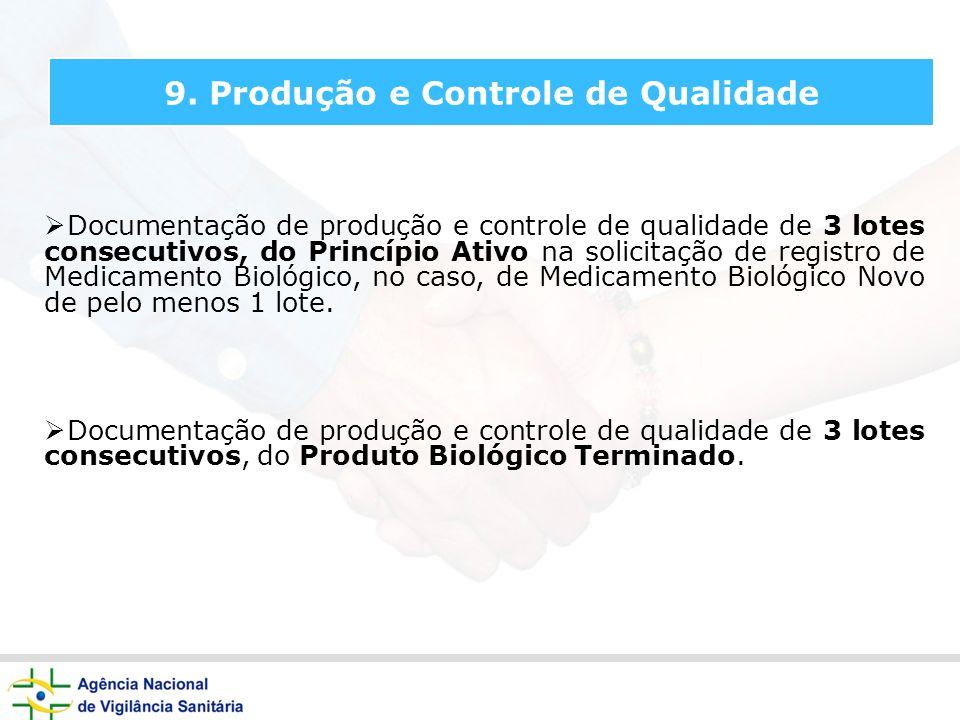 9. Produção e Controle de Qualidade