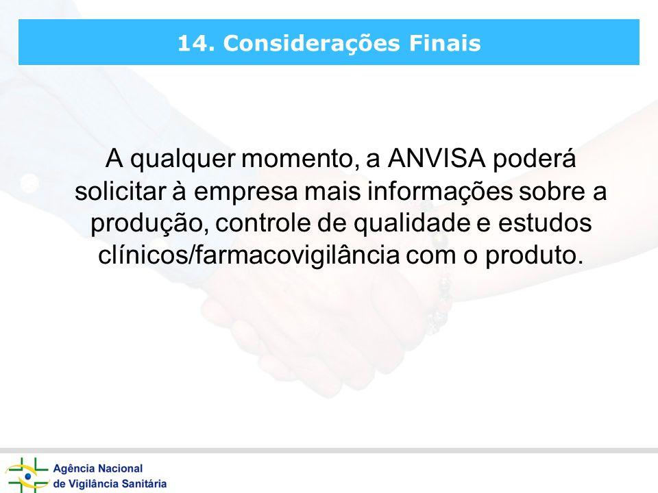 14. Considerações Finais