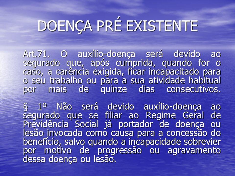 DOENÇA PRÉ EXISTENTE