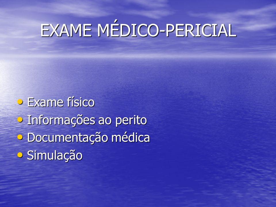 EXAME MÉDICO-PERICIAL