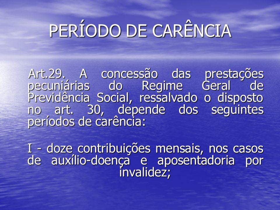 PERÍODO DE CARÊNCIA