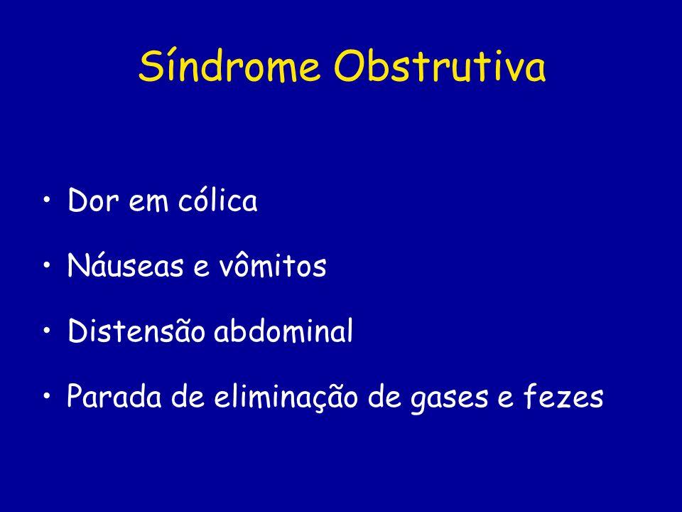 Síndrome Obstrutiva Dor em cólica Náuseas e vômitos