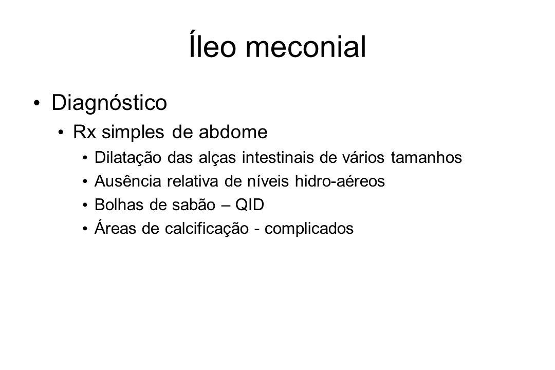 Íleo meconial Diagnóstico Rx simples de abdome
