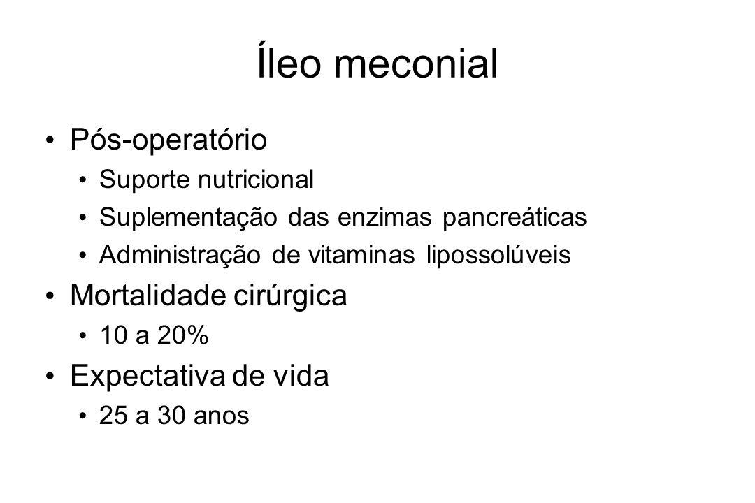 Íleo meconial Pós-operatório Mortalidade cirúrgica Expectativa de vida