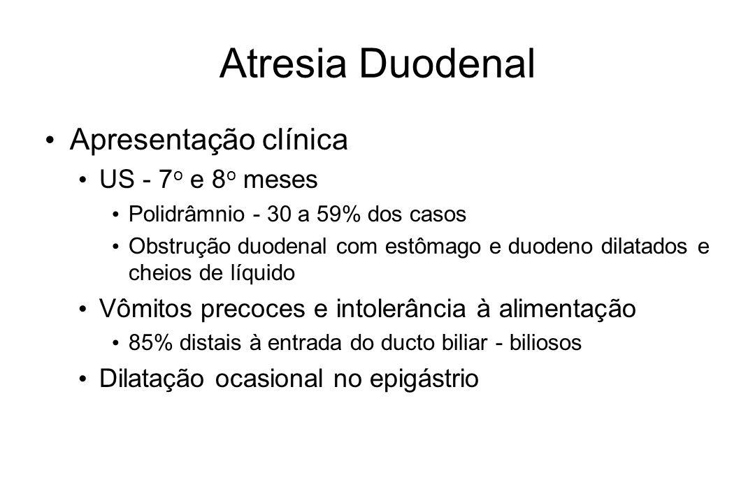Atresia Duodenal Apresentação clínica US - 7o e 8o meses