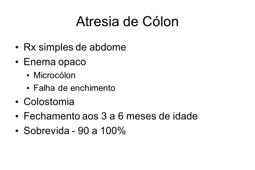Atresia de Cólon Rx simples de abdome Enema opaco Colostomia