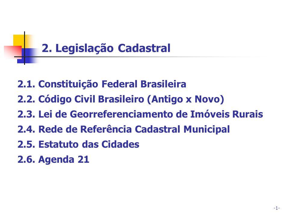 2. Legislação Cadastral 2.1. Constituição Federal Brasileira