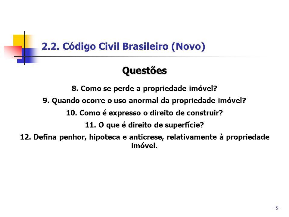 2.2. Código Civil Brasileiro (Novo)