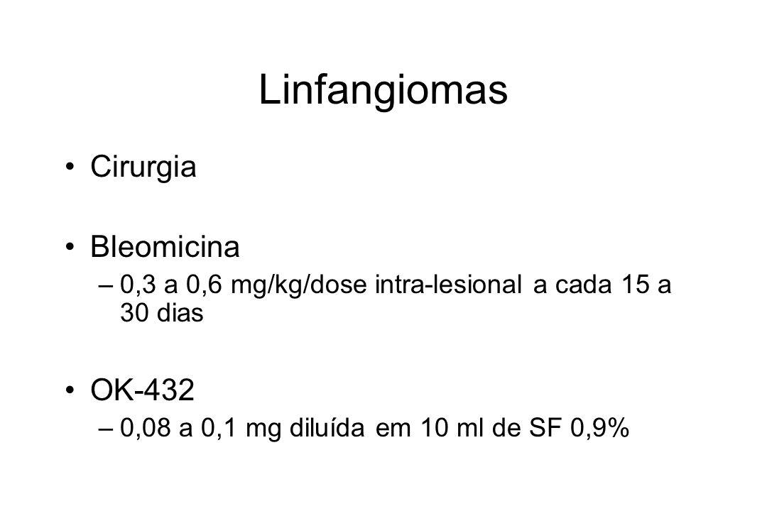 Linfangiomas Cirurgia Bleomicina OK-432