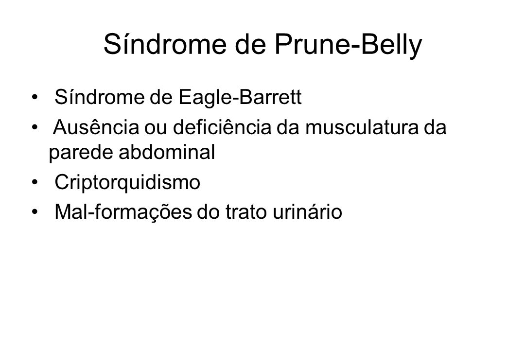 Síndrome de Prune-Belly