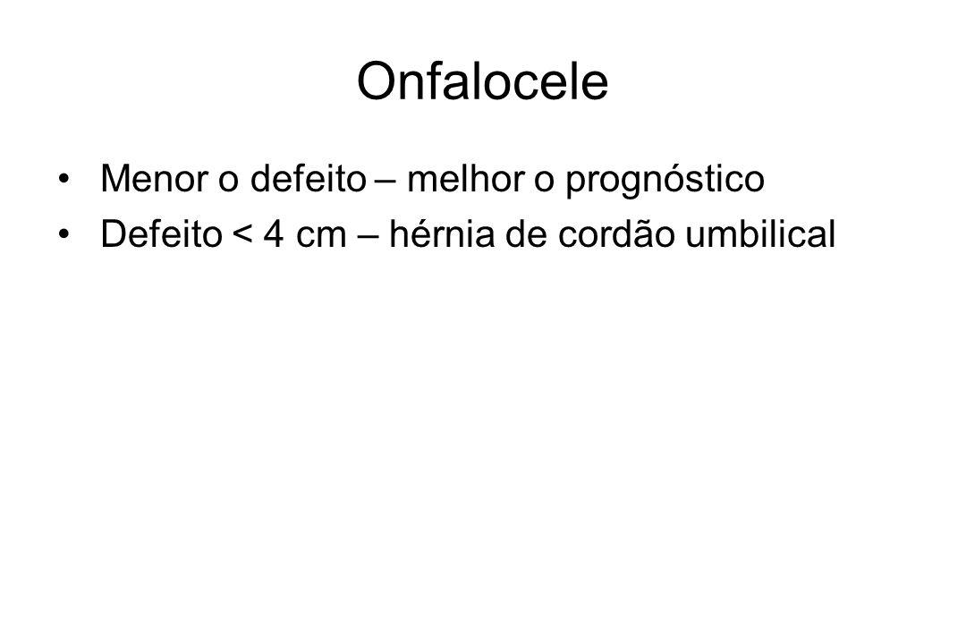 Onfalocele Menor o defeito – melhor o prognóstico